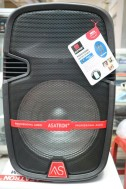 Speaker Portable Amplifier Wireless ASATRON HT 8870 UKM 12 Inch