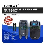 speaker portable meeting wireless krezt was 108fv speaker 8 inch