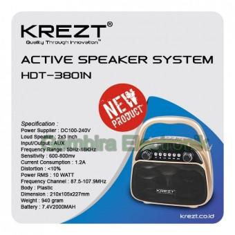 SPEAKER BLUETOOTH USB MEMORY KREZT HDT 3801N PORTABLE MEETING wireless