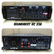 ampli karaoke soundbest rc238 amplifier usb sound best rc238 equalizer