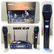 Mic Wireless Shure KLV 9 microphone klv9 Handheld