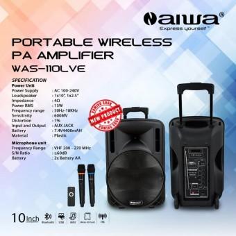 Meeting Wireless Aiwa 10 Inch Was 110 Lve Speaker Portable Bluetooth Aiwa 10 Inci Was 110lve 110lvd Lvd