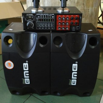 Paket Sound System Bluetooth BMB ORIGINAL Home Theater Karaoke Siap Pakai
