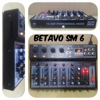 Mixer Audio Betavo 6 Channel Sm6 Mixer Sound System Betavo Sm 6