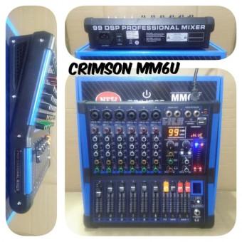 Mixer Audio Bluetooth 6 Channel Crimson Mm6u Mm 6u Crimson