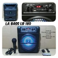 speaker portable 8 inch aktif wireless LA BASS LB 180 LABASS lb180