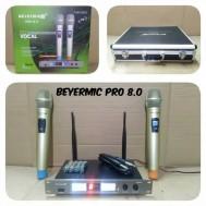 Mic Wireless BEYERMIC PRO 80 Free Koper Microphone Bayermic Pro 8 0 Mikrofon Pegang