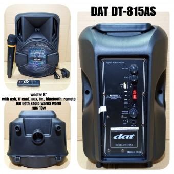 Speaker Aktif Portable 8 Inch Dat Dt 815as Meeting Wireless Mic 8 Inci