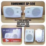 SPEAKER PASIF 5 INCH SEPASANG FAHRENHEIT SP 550 SPIKER PASIV 5 INCI