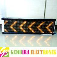 Running Teks LED 69 x 21cm Kuning