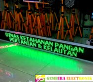 Display Running LED 197cm x 21cm Hijau