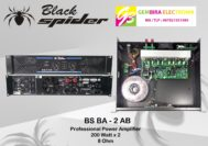 power profesional amplifier black spider BA 2 AB