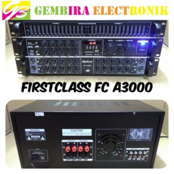 Power Amplifier Mixer Equaliser Firtsclass FC A3000 Bluetooth