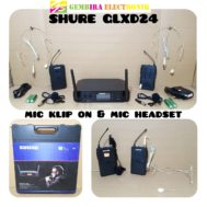 mic wireless SHURE GLXD-24(2 Mic heandset + 2 mic Clip On)