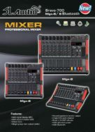 Power Mixer SL Audio MGX 6/8Bluetooth
