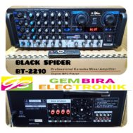 power amplifier blackspider bt 2210 ampli black spider bt2210 original