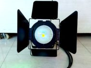 Fresnel LED COB 2in1 Body Hitam Spark