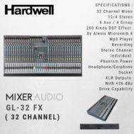 Mixer HARDWELL 32 Channel GL 32 FX ORIGINAL Garansi 1 Tahun