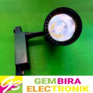 Lampu Track LED 20 Watr Body Hitam