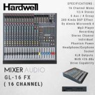 Mixer HARDWELL GL 16 FX ORIGINAL Garansi 1 Tahun