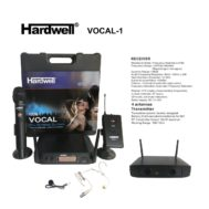 Microphone Hardwell Vocal -1 Handle Clip Headset Putih
