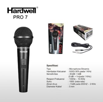 Mic Kabel Hardwell Pro 7 ( Vocal Microphone )