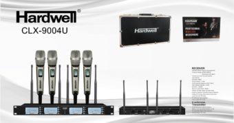 Mic Wireless Hardwell CLX 9004 U 4 Channel 4 Microphone Original
