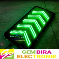 Green Sign Arrow LED