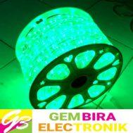Selang LED Bulat Hijau