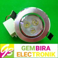 Ceiling LED Silver 3 Watt