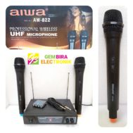 MIC WIRELESS AIWA AW 822 PROFESIONAL MICROPHONE HANDLE
