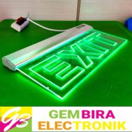 LED Sign Exit Acrylic Bening