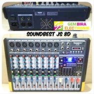 Mixer Power Soundbest JS 8D (8 channel) Full Mono
