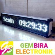 Running Teks LED 96 X 16 Putih