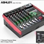 Power Mixer 7 Cxxnel Output 5 Cxxnel Ashley Prx-7000s Plus Subwoofer
