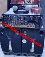 Paket Karaoke Bluetooth BMB 8 Inch & Ampli Black Spider BT2215 ORI
