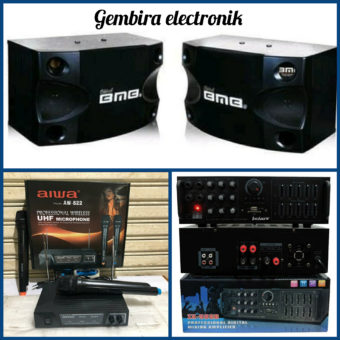 Paket karaoke bluetooth speaker BMB 8 inch original sound system