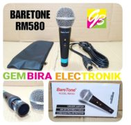 MIC KABEL HANDLE BARETONE RM580 PROFESIONAL VOCAL MICROPHONE