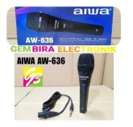 MIC HANDLE KABEL AIWA AW 636 LEGENDARY VOCAL MICROPHONE