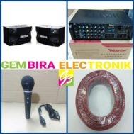 Paket Karaoke weston SA3700 bluetooth Speaker BMB original audio