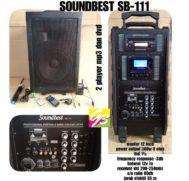 SPEAKER AKTIF 12 INCH PORTABLE SOUNDBEST SB 111 DVD DAN MP3 PLAYER