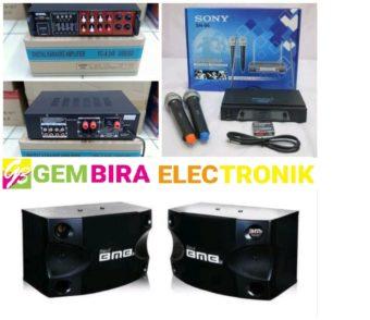Paket karaoke BMB 8 inch amplifier bisa bluetooth