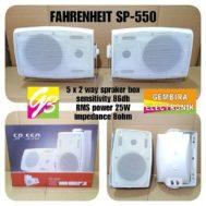 SPEAKER PASIF 5 INCH SEPASANG FAHRENHEIT SP 550 WHITE