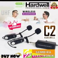 Mic Wireless Hardwell C2 Clipon C-2 Headset Clip Microphone