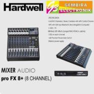 Mixer Audio Hardwell PRO FX 8+ PRO FX8 USB, Bluetooth
